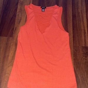red/orange tank top, only worn once!